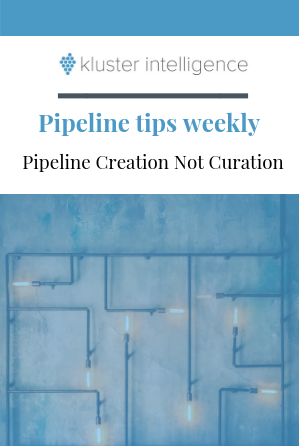 Pipeline Creation, Not Curation